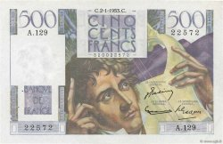 500 Francs CHATEAUBRIAND FRANCE  1953 F.34.11 SUP+