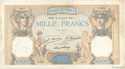 1000 Francs CÉRÈS ET MERCURE FRANCE  1930 F.37.04 TB