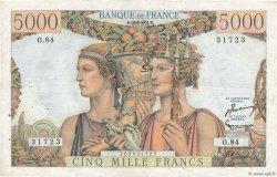 5000 Francs TERRE ET MER FRANCE  1951 F.48.05 pr.TTB