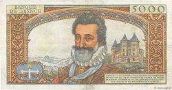 5000 Francs HENRI IV FRANCE  1958 F.49.07 TB+