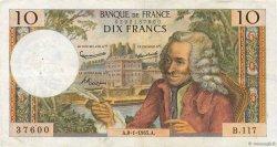 10 Francs VOLTAIRE FRANCE  1965 F.62.12 pr.TTB