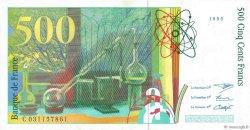 500 Francs PIERRE ET MARIE CURIE FRANCE  1995 F.76.02 pr.SPL