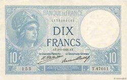 10 Francs MINERVE FRANCE  1928 F.06.13 TTB