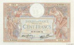 100 Francs LUC OLIVIER MERSON type modifié FRANCE  1939 F.25.44 pr.SUP