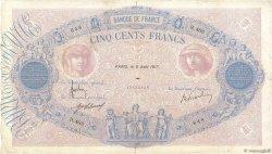 500 Francs BLEU ET ROSE FRANCE  1917 F.30.23 B+