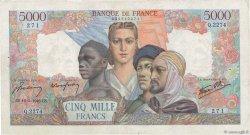 5000 Francs EMPIRE FRANÇAIS FRANCE  1946 F.47.53 pr.TB