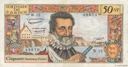 50 Nouveaux Francs HENRI IV FRANCE  1959 F.58.01 TB+