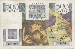 500 Francs CHATEAUBRIAND FRANCE  1946 F.34.05 pr.TTB