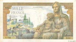 1000 Francs DÉESSE DÉMÉTER FRANCE  1942 F.40.03 TTB