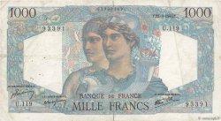 1000 Francs MINERVE ET HERCULE FRANCE  1945 F.41.07 pr.TB