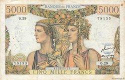 5000 Francs TERRE ET MER FRANCE  1949 F.48.02 TB