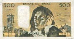 500 Francs PASCAL FRANCE  1969 F.71.04 TB