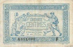 50 Centimes TRÉSORERIE AUX ARMÉES FRANCE  1917 VF.01.06 pr.TTB