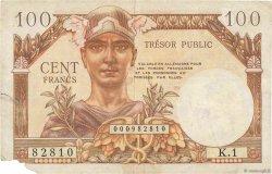100 Francs TRÉSOR PUBLIC FRANCE  1955 VF.34.01 pr.TB