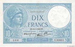 10 Francs MINERVE modifié FRANCE  1941 F.07.28 pr.SUP
