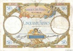 50 Francs LUC OLIVIER MERSON type modifié FRANCE  1934 F.16.05 pr.TB