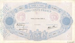500 Francs BLEU ET ROSE modifié FRANCE  1939 F.31.26 TB