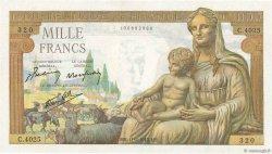 1000 Francs DÉESSE DÉMÉTER FRANCE  1943 F.40.18 SPL