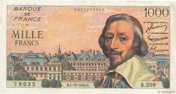 1000 Francs RICHELIEU FRANCE  1955 F.42.17 TTB