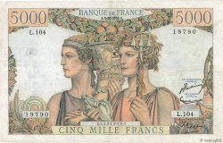 5000 Francs TERRE ET MER FRANCE  1952 F.48.07 pr.TTB