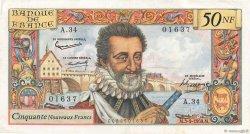 50 Nouveaux Francs HENRI IV FRANCE  1959 F.58.03 TTB