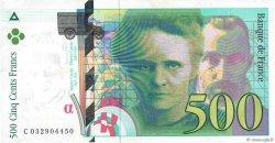 500 Francs PIERRE ET MARIE CURIE FRANCE  1995 F.76.02 TTB
