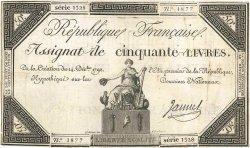 50 Livres FRANCE  1792 Ass.39a pr.TB