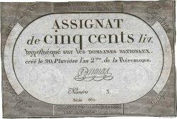 500 Livres FRANCE  1794 Ass.47a TTB