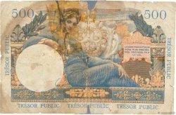 5NF sur 500 Francs TRÉSOR PUBLIC FRANCE  1960 VF.37.01 M