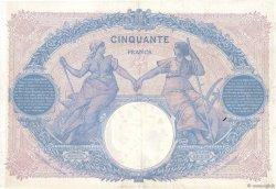 50 Francs BLEU ET ROSE FRANCE  1916 F.14.29 TTB