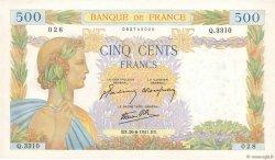 500 Francs LA PAIX FRANCE  1941 F.32.19 pr.SPL