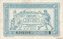 50 Centimes TRÉSORERIE AUX ARMÉES FRANCE  1917 VF.01.14 TTB