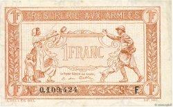 1 Franc TRÉSORERIE AUX ARMÉES FRANCE  1917 VF.03.06 TTB