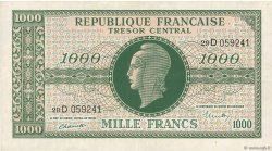 1000 Francs MARIANNE FRANCE  1945 VF.13.01 pr.SUP