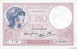 5 Francs VIOLET modifié FRANCE  1939 F.04.06 pr.SUP