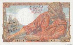 20 Francs PÊCHEUR FRANCE  1943 F.13.05 NEUF