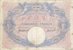 50 Francs BLEU ET ROSE FRANCE  1913 F.14.26 pr.TB
