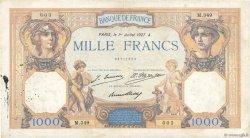 1000 Francs CÉRÈS ET MERCURE FRANCE  1927 F.37.01 TB