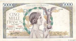 5000 Francs VICTOIRE Impression à plat FRANCE  1939 F.46.02 TB+