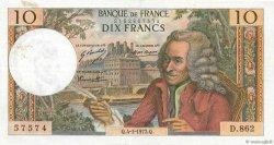 10 Francs VOLTAIRE FRANCE  1973 F.62.60 TTB
