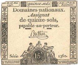 15 Sols FRANCE  1793 Ass.41b TB+