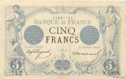 5 Francs NOIR FRANCE  1873 F.01.15 pr.TTB