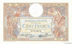 100 Francs LUC OLIVIER MERSON type modifié FRANCE  1938 F.25.17 pr.SUP