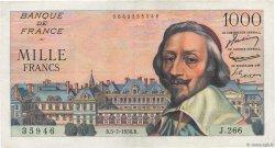 1000 Francs RICHELIEU FRANCE  1956 F.42.21 TTB+