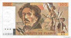 100 Francs DELACROIX modifié FRANCE  1978 F.69.01g pr.SUP