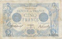 5 Francs BLEU FRANCE  1916 F.02.43 TB+