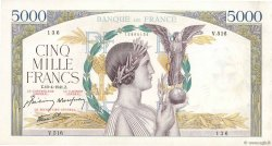 5000 Francs VICTOIRE Impression à plat FRANCE  1941 F.46.19 TTB
