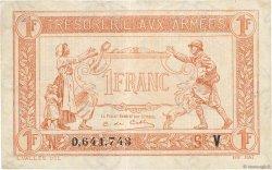 1 Franc TRÉSORERIE AUX ARMÉES FRANCE  1919 VF.04.09 TTB