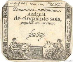 50 Sols variété FRANCE  1793 Ass.42d TTB