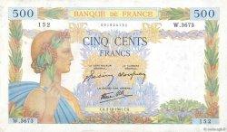 500 Francs LA PAIX FRANCE  1941 F.32.22 TTB
